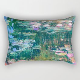 water lilies : Monet Rectangular Pillow