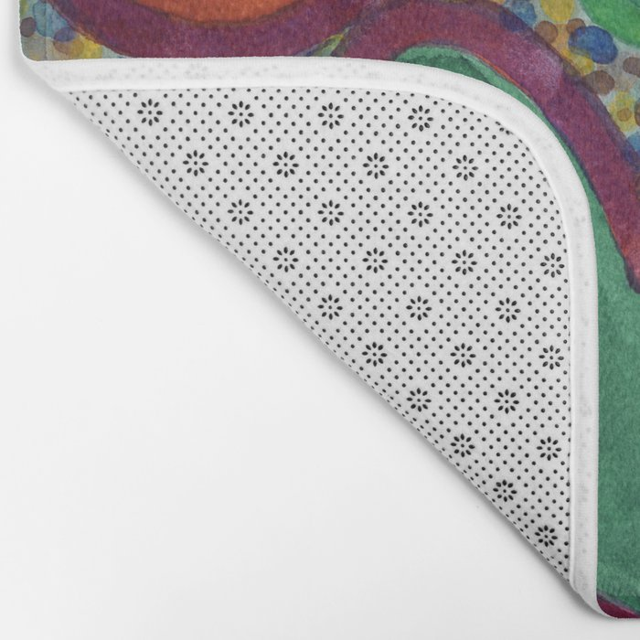 Filled Spicy Vegetables Bath Mat