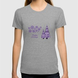 Abstract Winter Holiday - Purple 47 T-shirt