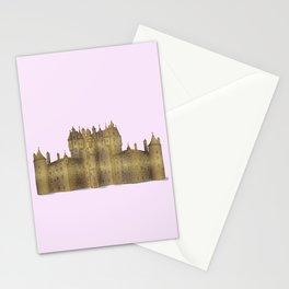 Golden castle on a pink background Stationery Cards