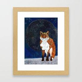 Lunar Kitsune Framed Art Print