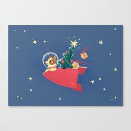 Laika Christmas Canvas Print