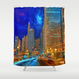 In The City Shower Curtain