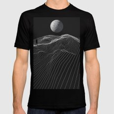 Equal Night MEDIUM Mens Fitted Tee Black