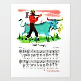Paul Bunyan The Lumberjack, Canadian-American Folklore Hero Art Print