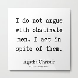 27  | Agatha Christie Quotes | 190821 Metal Print