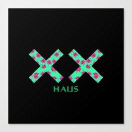 Neon Double Cross   X Canvas Print