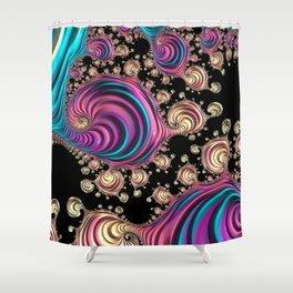 Vivid Fractal Shower Curtain