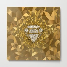 POLYNOID Diamond / Gold Edition Metal Print
