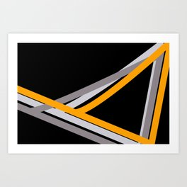 BMX Sticker in Black Art Print