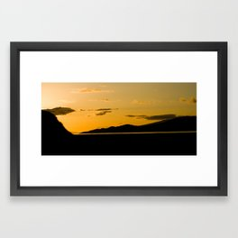 Sunset from Spanich Bank Framed Art Print