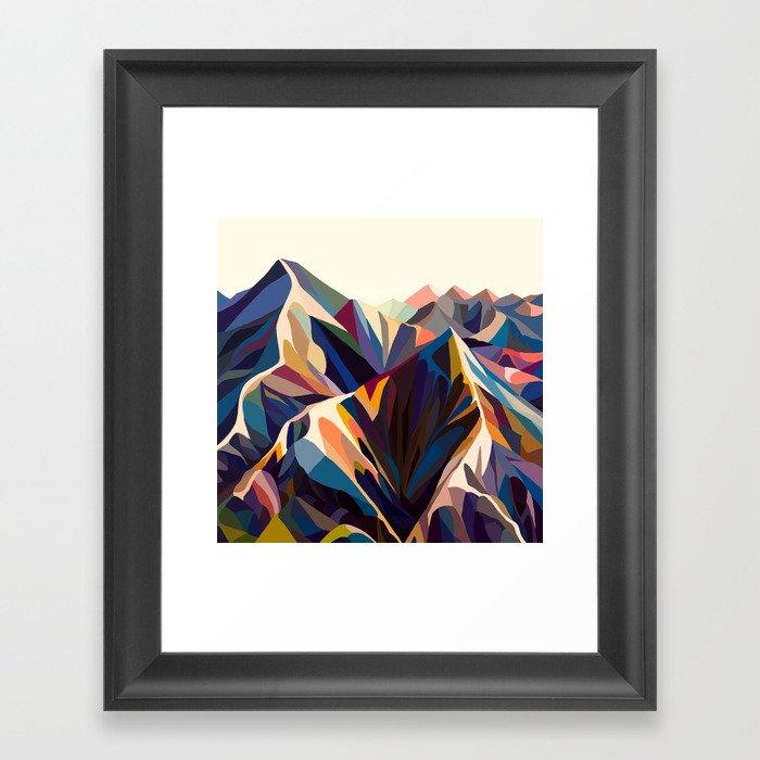 Mountains original Gerahmter Kunstdruck