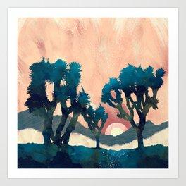 Sunset Desert Canyon Art Print