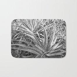 Dyckia in black and white Bath Mat