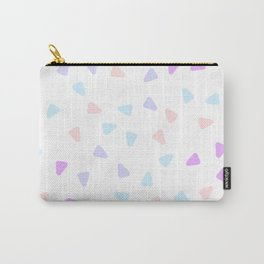 Minimalist Scandinavian Style Stone Inspired Round Triangle Pattern Purple Cotton Candy Carry-All Pouch