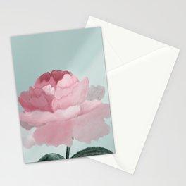 pink pastel peony Stationery Cards