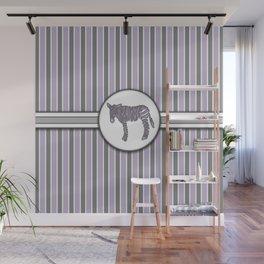 Purple Zebra Stripes Pattern Design Wall Mural