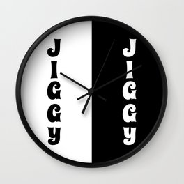 Jiggy Jiggy Wall Clock
