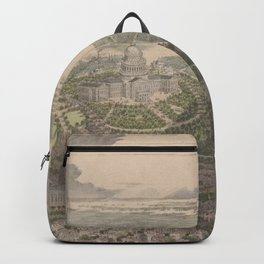 Vintage Pictorial Map of Washington DC (1865) Backpack