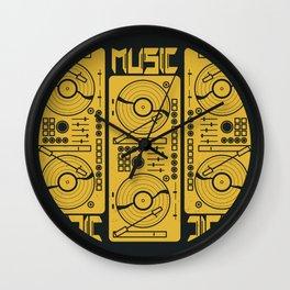 Music Gramophone Circle Wall Clock