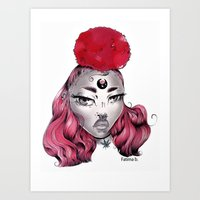 Art Print featuring Cold Stoner by Fatimabart