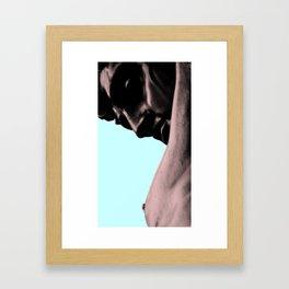 Homme_blue light Framed Art Print