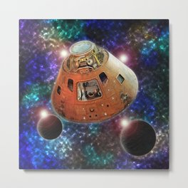 Apollo 12 Command Module Metal Print