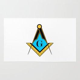 freemason symbol Rug