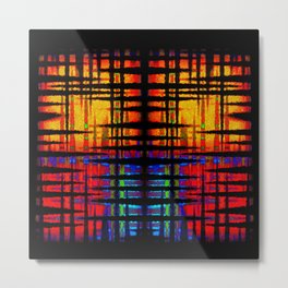 Abstract Tri Colors - Square Metal Print