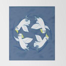 Cockatoo Angels (Blue) Throw Blanket