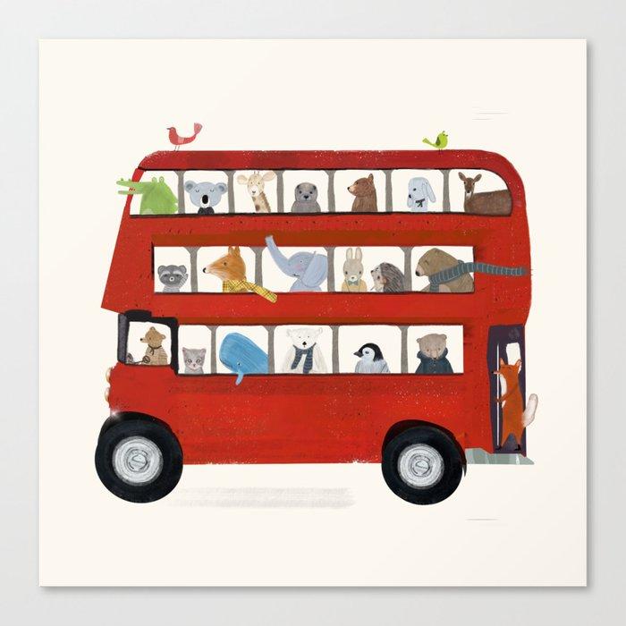 the big little red bus Leinwanddruck