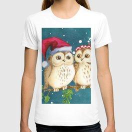 Christmas Owls (Color) T-shirt