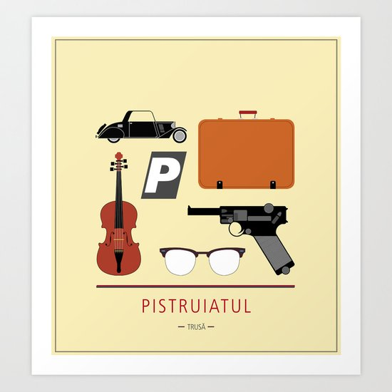 "ROMANIAN MOVIE ""PISTRUIATUL"" Art Print"