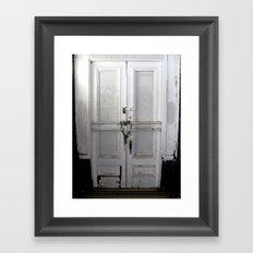Heart Lock Framed Art Print
