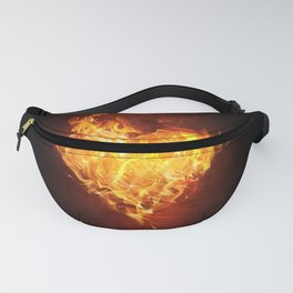 Fire Flame Burn Heart Love Fanny Pack