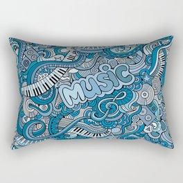 Doodle music Rectangular Pillow