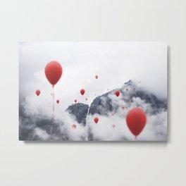 Balloons rising high Metal Print