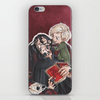 snape iPhone & iPod Skins featuring Babysitting - Snape and Draco by CaptBexx