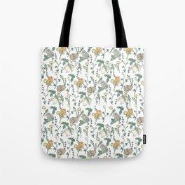 Spring Garden -white Tote Bag
