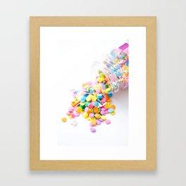 Confetti Sprinkles Framed Art Print
