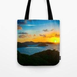 Sunrise Over Hurricane Hole Tote Bag