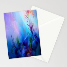 Sunset Painterly Floral Stationery Cards