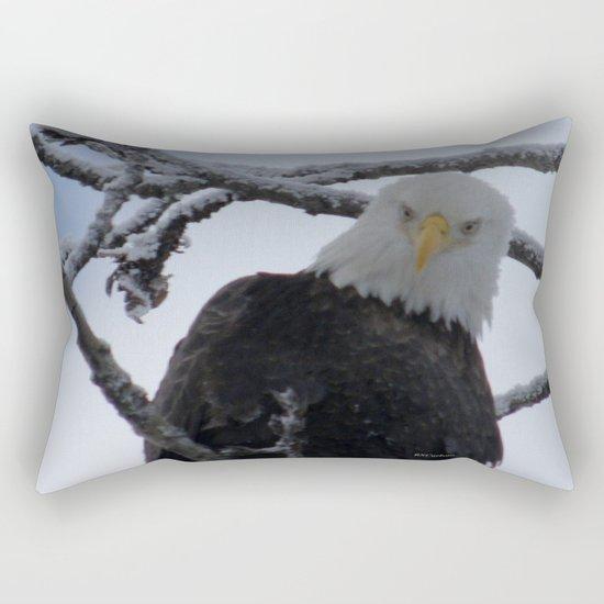 Bald Eagle at 12 Below -- Soldotna, Alaska Rectangular Pillow