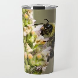 A Bumble Bee Working Travel Mug