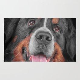 Drawing Bernese Mountain Dog 5 Rug