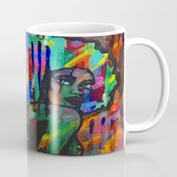 afro Mugs featuring Afro babe by Camila Rodrigué