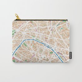 Watercolor map of Paris Carry-All Pouch