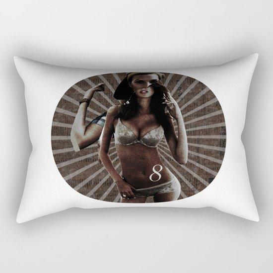 Build a Woman - Cut and Glue · The dark 8 Rectangular Pillow