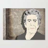 lou reed Canvas Prints featuring Lou Reed by DDR®