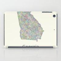 georgia iPad Cases featuring Georgia map by David Zydd